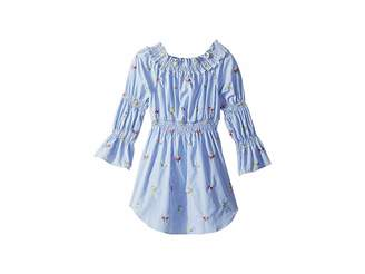Maddie by Maddie Ziegler Smocked Shirtdress with Floral Embroidery (Big Kids)