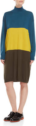 I'M Isola Marras Color Block Mock Neck Sweater Dress