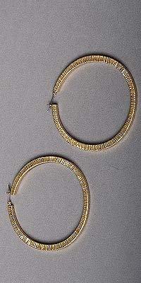 Nicole Miller Gold Hoop Earrings