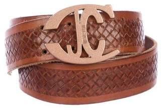 Just Cavalli Leather Buckle Belt