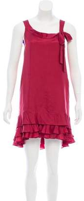 Susana Monaco Ruffled Silk Dress