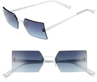 KENDALL + KYLIE Grace 53mm Rimless Rectangular Sunglasses