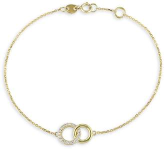 Everly 14K Yellow Gold 0.1 CT. T.W. Diamond Circles Charm Bracelet