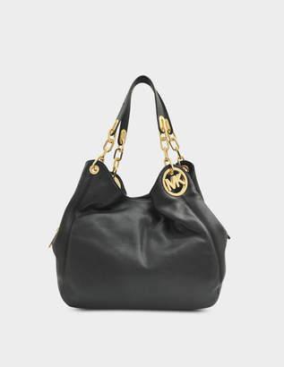 MICHAEL Michael Kors Fulton Hobo Bag in Black Soft Venus