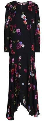 Preen Line Aaliyah Paneled Printed Crepe De Chine Maxi Dress