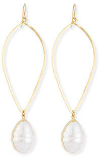 Devon Leigh 14K Gold-Plate Baroque Pearl Drop Earrings
