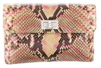 Chanel Python Mademoiselle Clutch