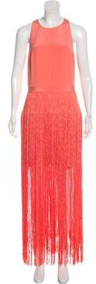 Tamara Mellon Sleeveless Fringe Mini Dress