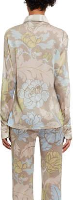 Acne Studios Lurex Floral Long-Sleeve Blouse