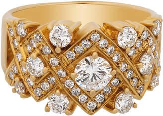 Estate Jewelry Estate 18K Yellow Gold Diamond Cluster Ring Size 8.5