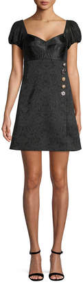 Dolce & Gabbana Puff-Sleeve Mini Dress