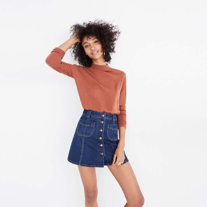 Patch-Pocket Jean Skirt