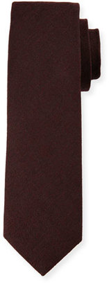 Boss Hugo Boss Melange Wool-Blend Tie, Burgundy $125 thestylecure.com