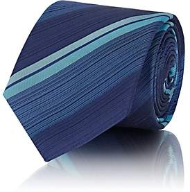 Barneys New York MEN'S DIAGONAL-STRIPED SILK REPP NECKTIE