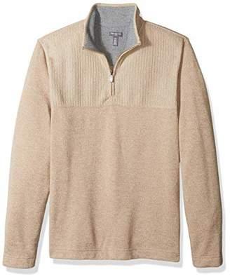 Van Heusen Men's Size Big and Tall Flex 1/4-zip Solid Sweater,X-Large