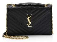 Saint Laurent Medium Monogram Leather Envelope Chain Shoulder Bag