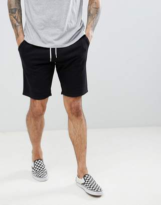 New Look Jersey Shorts With Drawstring In Black