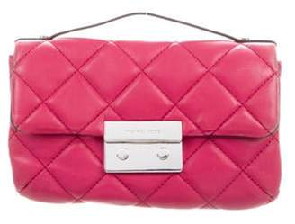 Michael Kors Quilted Leather Crossbody Bag Magenta Quilted Leather Crossbody Bag