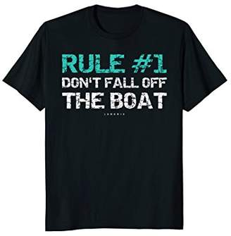 Funny Cruise Shirts - Rule Don't Fall Off The Boat Shirt