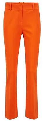 HUGO BOSS Cropped trousers in a stretch virgin-wool blend