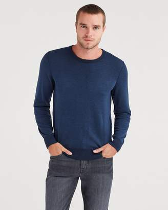 7 For All Mankind Plaited Crewneck Sweater in Navy