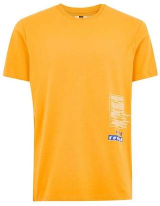 Topman Mens Orange 'Refresh' T-Shirt