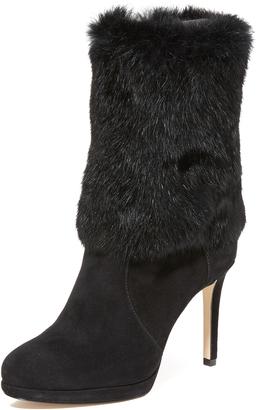 MICHAEL Michael Kors Faye Fur Boots $295 thestylecure.com