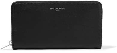 Balenciaga  Balenciaga - Textured-leather Continental Wallet - Black