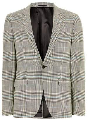 Topman Mens Black and White Houndstooth Jacket