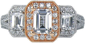 FINE JEWELRY LIMITED QUANTITIES 1 CT. T.W. Diamond 3-Stone Two-Tone Ring