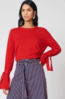 NA-KD Na Kd Tied Sleeve Knitted Sweater Cobolt