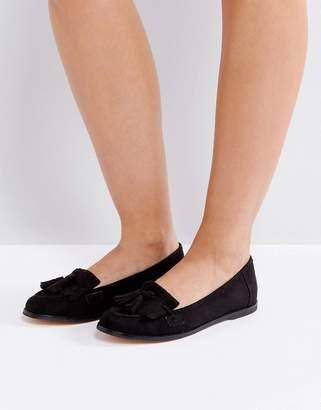 London Rebel Fringe Tassle Loafers