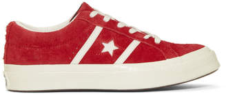 Converse Red One Star Academy Sneakers