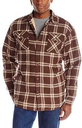 Wrangler Authentics Men's Big & Tall Long Sleeve Sherpa Lined Flannel Shirt Jacket