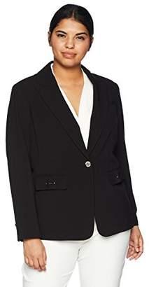 Calvin Klein Women's Plus Size STRCTRD Blazer W/HW