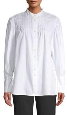 Diane von Furstenberg Pintucked Balloon Sleeve Shirt