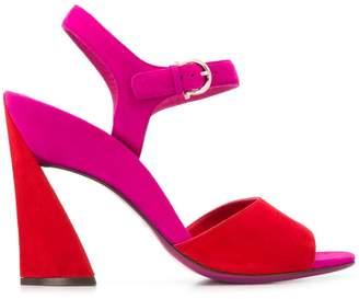 Salvatore Ferragamo block color sandals