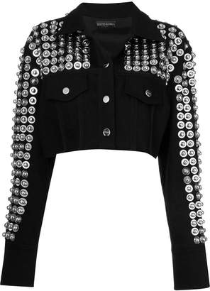 David Koma studded cropped jacket