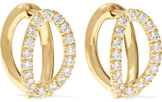 Mila Louise Melissa Kaye Small 18-karat Gold Diamond Earrings