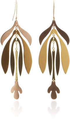 Evans Sian Inflorescence Gold-Plated Earrings