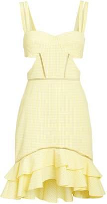 Jonathan Simkhai Seersucker Gingham Cutout Dress
