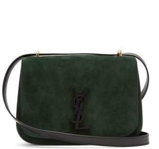 Saint Laurent Spontini Small Suede Cross Body Bag - Womens - Dark Green