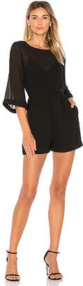 Line & Dot Celeste Romper in Black $70 thestylecure.com
