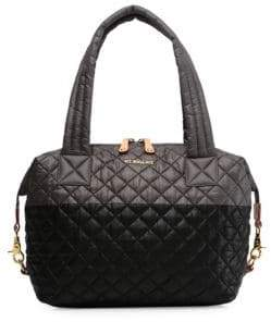 MZ Wallace Meidum Sutton Two-Tone Quilted Nylon Satchel