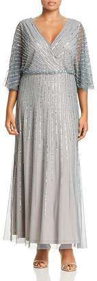 Adrianna Papell Plus Beaded Gown