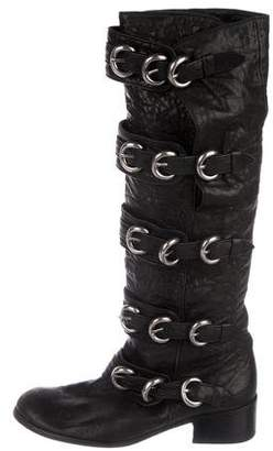 Thomas Wylde Leather Round-Toe Boots