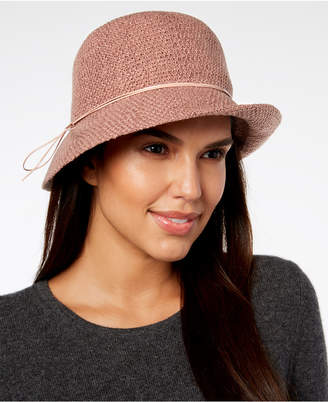 INC International Concepts Hatch-Weave Packable Cloche, Created for Macy's