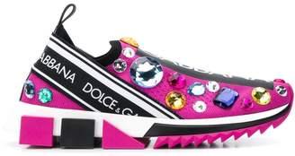 Dolce & Gabbana crystal-embellished sneakers