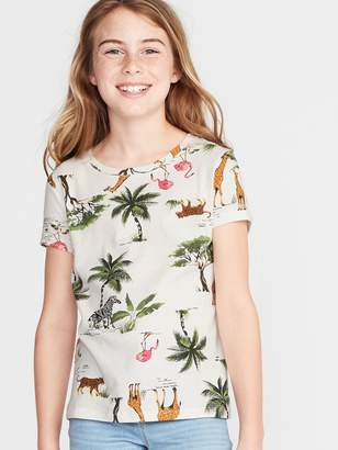 Old Navy Softest Printed Tee for Girls