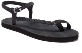 Rainbow Marley Side Braid Ankle Strap Sandals